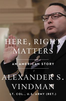 Here, right matters : an American story Book cover